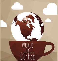 Set coffee design elements vector