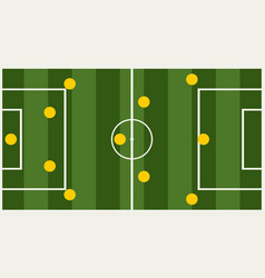soccer tactic info graphic vector image