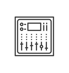 sound board - line design single isolated icon vector image