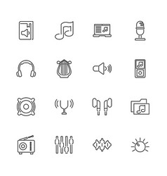 Sound - flat icons vector
