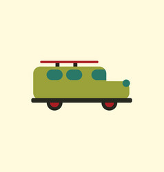 Stylish icon in flat style retro car vector