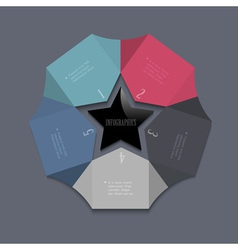 Stylized star design template for infographics vector