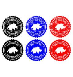 Switzerland rubber stamp vector