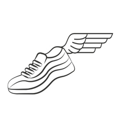 tennis runner shoes isolated icon vector image