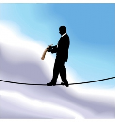 tightrope businessman vector image