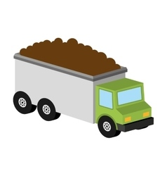 Truck tipper transport icon graphic vector