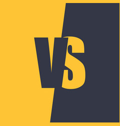 Versus letters fight and match element vector