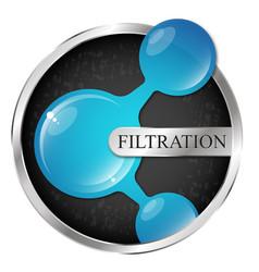 water drop in silver circle filtering symbol vector image