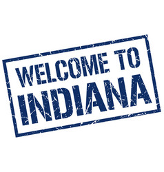 Welcome to indiana stamp vector