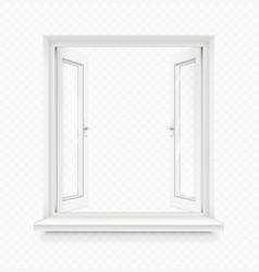 White classic plastic window vector