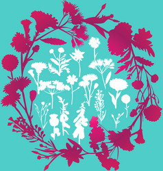 Wildflower silhouettes vector
