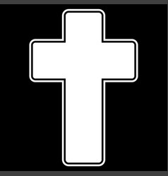 church cross icon vector image