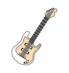 electric guitar music instrument vector image vector image