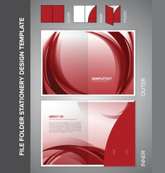 folder template vector image vector image