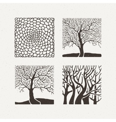 Square trees set Pattern vector image vector image