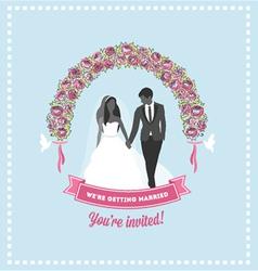 Wedding invitation flower arch vector image vector image
