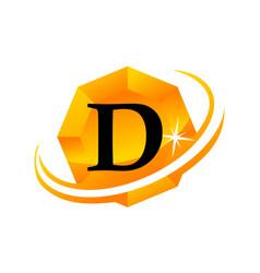 diamond swoosh initial d vector image