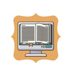 isolated ebook inside frame design vector image