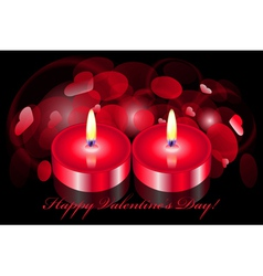 romantic background with two candles vector image