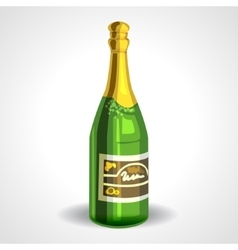 Soviet champagne bottle or sparkling wine vector