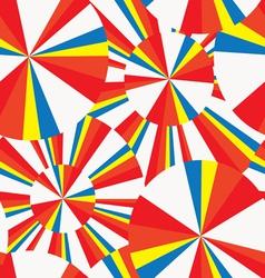summer circles pop-art seamless pattern vector image vector image