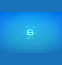 Abstract background bitcoin concept with print vector