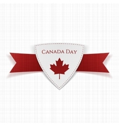 Canada day festive red label vector