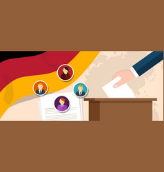 german democracy political process selecting vector image vector image
