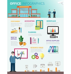 Office Infographics Flat Template vector image