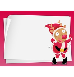 reindeer and paper sheets vector image vector image
