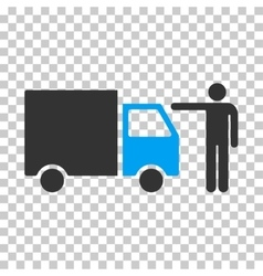 Truck Customer Eps Icon vector image