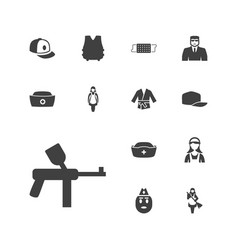 13 uniform icons vector