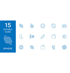 15 sphere icons vector image
