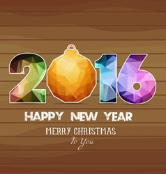 2016 Merry Christmas and Happy New Year vector