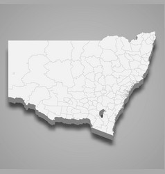 3d map state australia vector