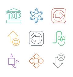 9 cursor icons vector