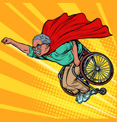 african man retired superhero disabled in a vector image