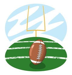 American football on the field vector image