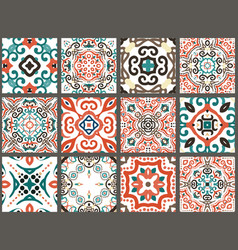 Arabic decorative tiles vector