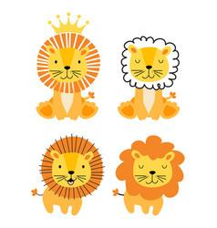 baby lion animal cartoon characters vector image