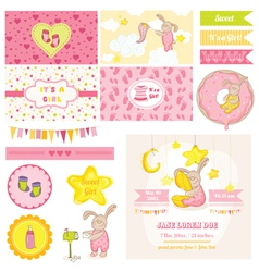 Baby Shower Bunny Theme vector