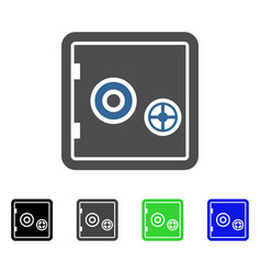Banking safe flat icon vector