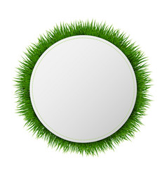 banner ball with grass white background vector image