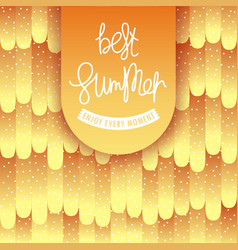 best summer poster modern style semi-flat pattern vector image