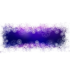 Blue banner with snowflake frame vector