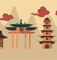 chineseTemple preview vector image