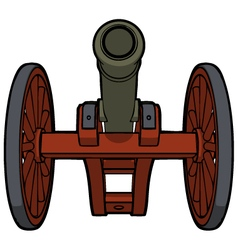 civil war cannon view bottom vector image