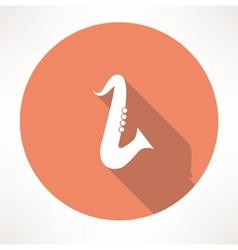 Classical saxophone icon vector