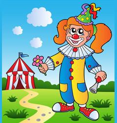 clown theme picture 3 vector image