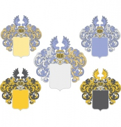 Coat of arms 3 colored vector